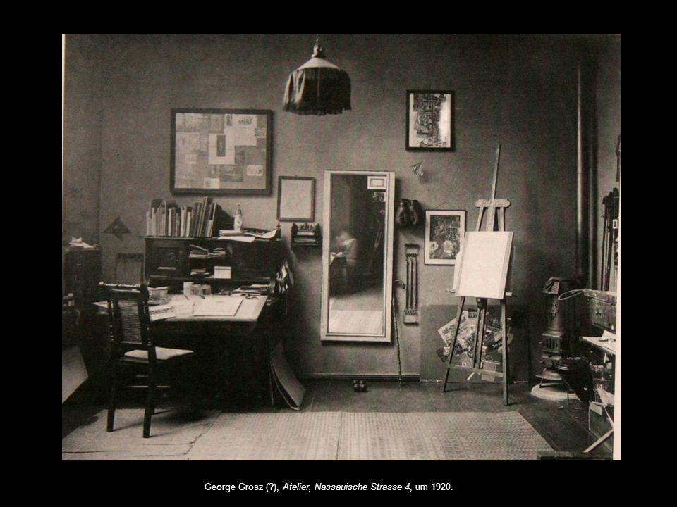 George Grosz (?), Eva Peter als Modell im Atelier, Nassauische Strasse 4, um 1920.