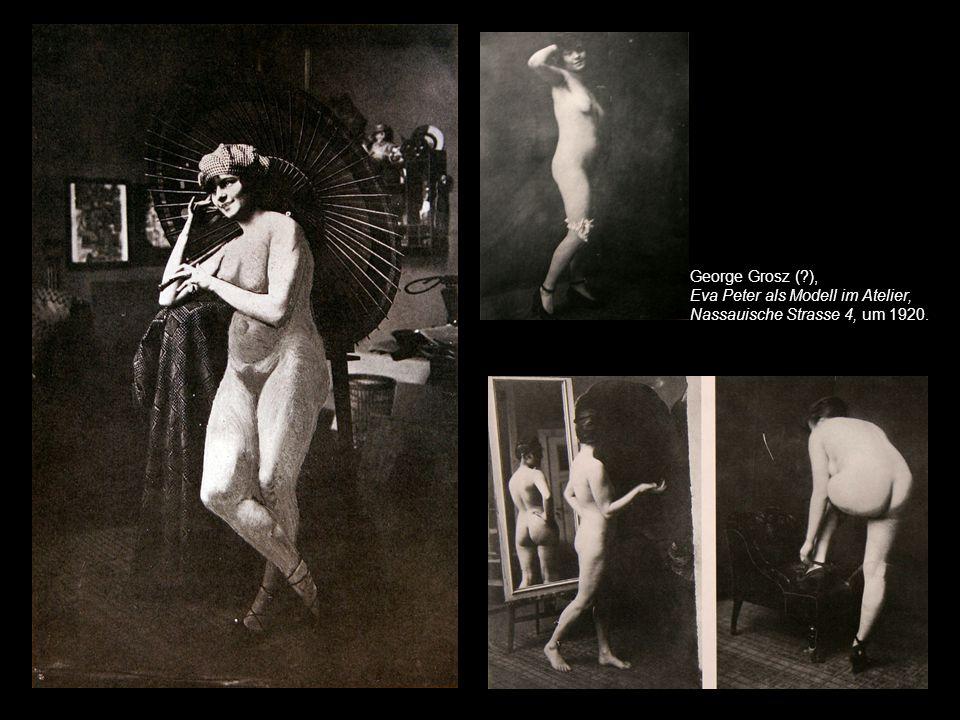George Grosz und Shoe Shine. Photosequenz. 1932.