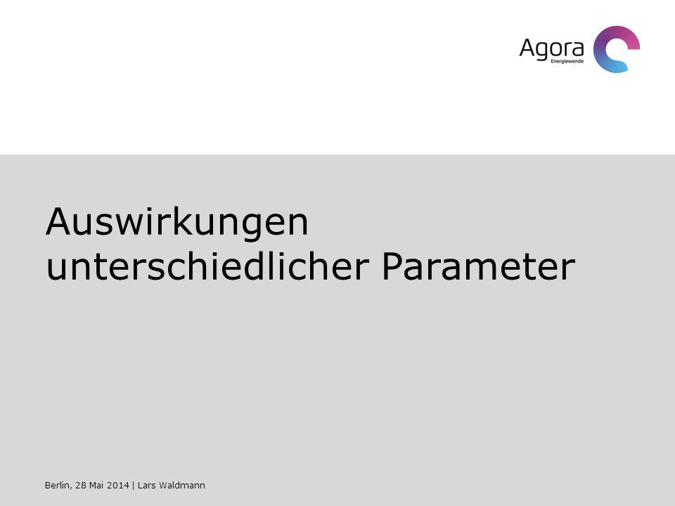 Auswirkungen unterschiedlicher Parameter Berlin, 28 Mai 2014   Lars Waldmann