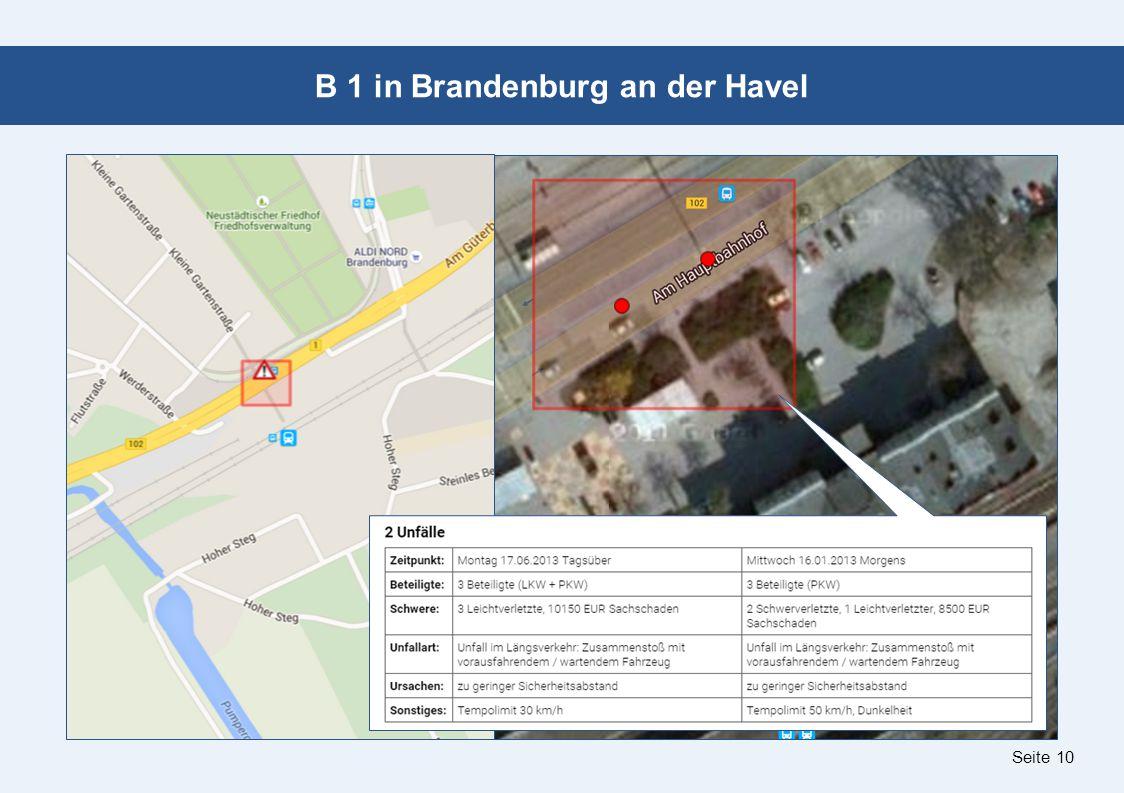 Seite 10 B 1 in Brandenburg an der Havel