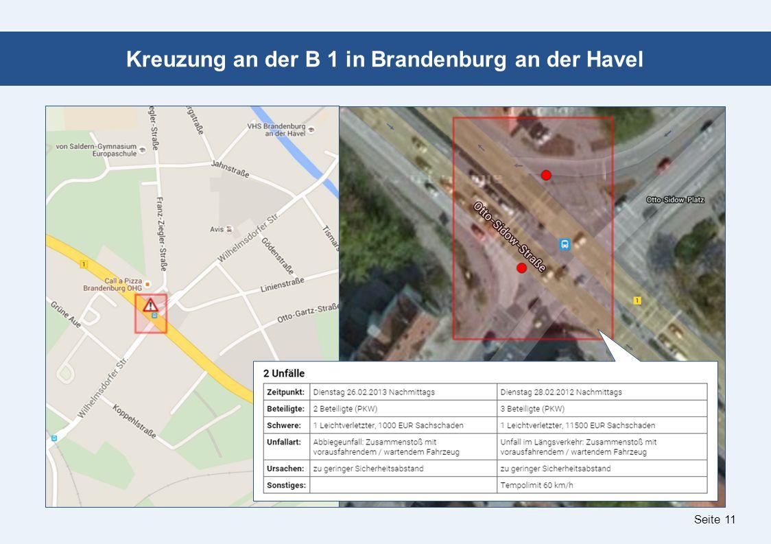 Seite 11 Kreuzung an der B 1 in Brandenburg an der Havel