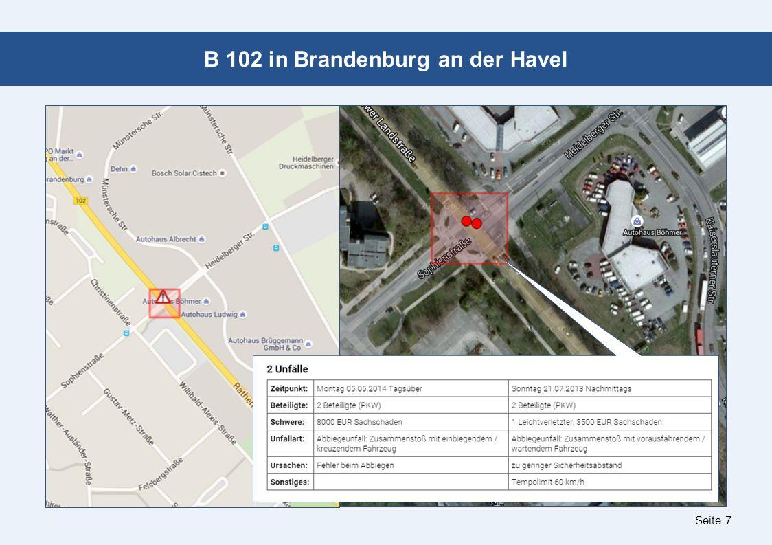 Seite 7 B 102 in Brandenburg an der Havel