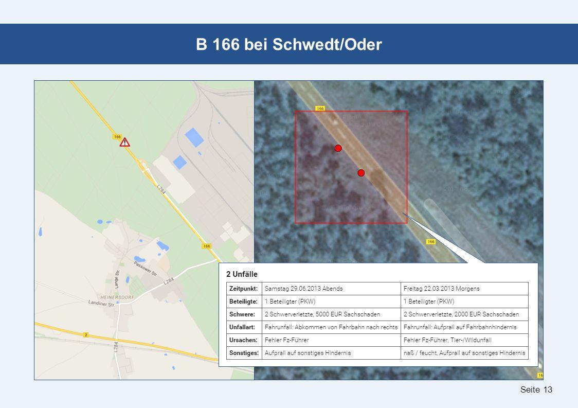 Seite 13 B 166 bei Schwedt/Oder