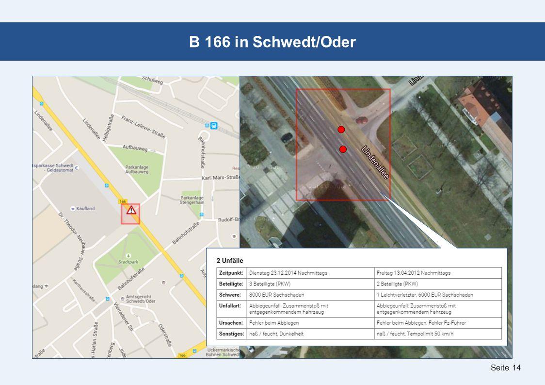 Seite 14 B 166 in Schwedt/Oder