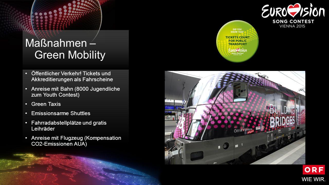 WIE WIR. Maßnahmen – Green Mobility Öffentlicher Verkehr.