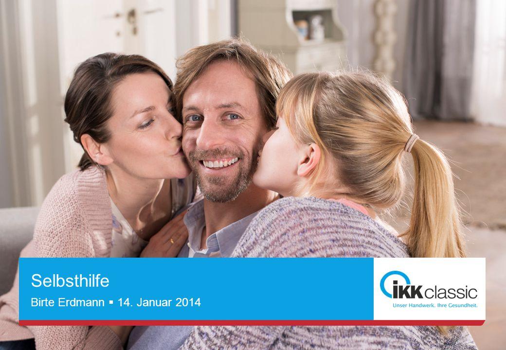 Seite 1 Unternehmenspräsentation Max Mustermann  30.06.2012 Selbsthilfe Birte Erdmann  14. Januar 2014