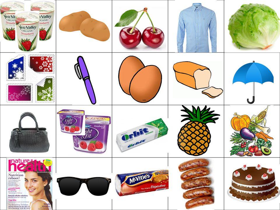 Die Einkaufsliste Ein Kilo Kartoffeln Vier Briefmarken Ein Hähnchen 2 Becher Himbeerjoghurt Kopfsalat Obst Schinken 500g Champignons K.