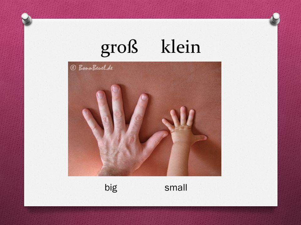 groß klein big small