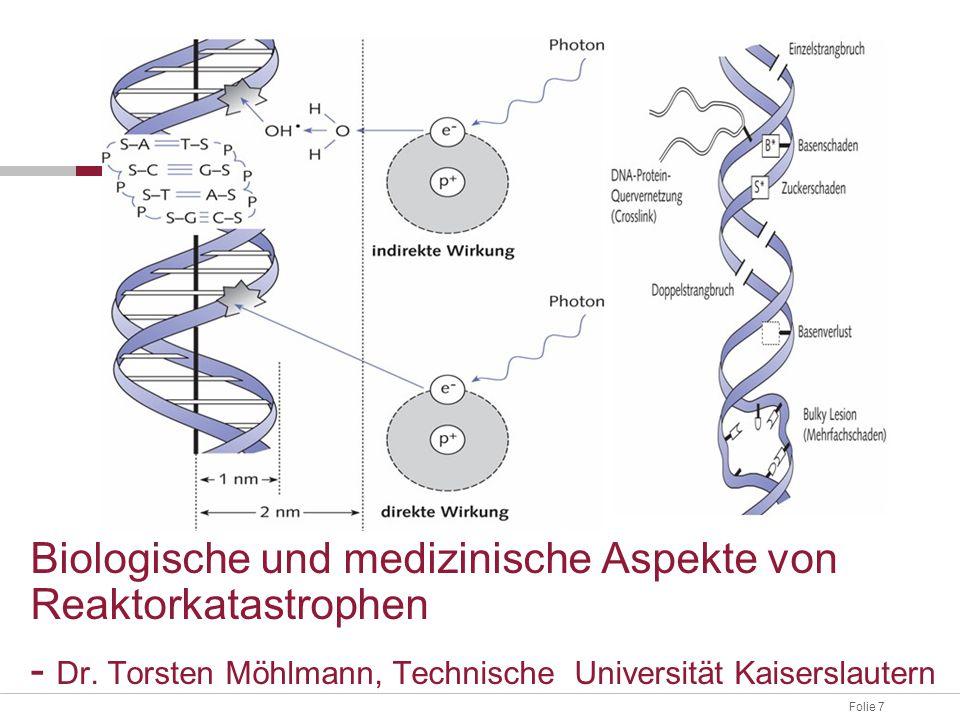 Folie 7 Biologische und medizinische Aspekte von Reaktorkatastrophen - Dr. Torsten Möhlmann, Technische Universität Kaiserslautern