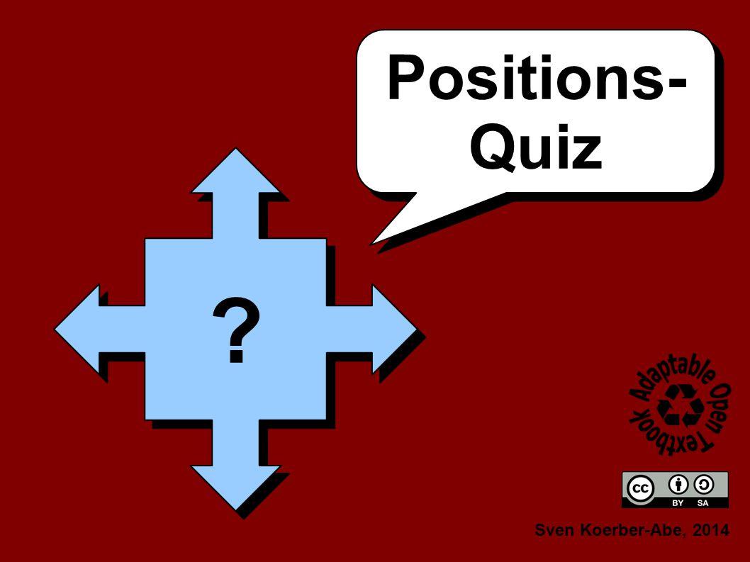 Positions- Quiz Positions- Quiz Sven Koerber-Abe, 2014 ? ?