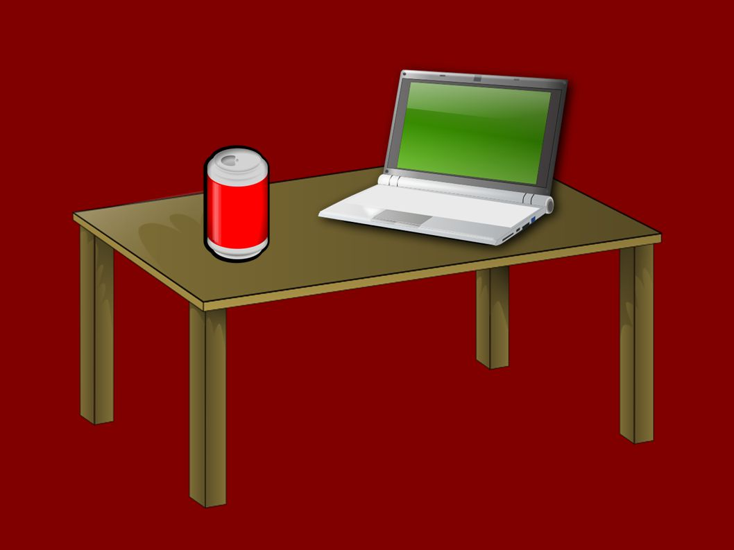 AuthorSven Koerber-Abe, 2014http://sven.kir.jp/aot/ ImagesSlide 3:Cola by Jonata, 2007, Public Domain, Openclipart.org Netbook by Gnokii, 2011, Public Domain, Openclipart.org Wooden Table by Benji Park, 2009, Public Domain, Openclipart.org Slide 7:Coffee cup by Lual, 2011, Public Domain, Openclipart.org Smartphone by Bocian, 2010, Public Domain, Openclipart.org 20 Euro Note by Frankes, 2013, Public Domain, Openclipart.org Wooden Table by Benji Park, 2009, Public Domain, Openclipart.org Slide 12:Wooden chair by Ozer Kavak, 2012, Public Domain, Openclipart.org Baseball by Chrisdesign, 2009, Public Domain, Openclipart.org Clock by BenBois, 2007, Public Domain, Openclipart.org Backpack by Pixzain, 2010, Public Domain, Openclipart.org Slide 16:House by Nicubunu, 2009, Public Domain, Openclipart.org Plane by Russel, 2010, Public Domain, Openclipart.org Running Man by Hector Gomez, 2010, Public Domain, Openclipart.org Bicycle by Lescinquailes, 2008, Public Domain, Openclipart.org Slide 20:Montreux #8 by ClearFrost, 2014, Creative Commons Attribution – Share Alike License 3.0, Flickr.com The Blob by Kablam, 2009, Public Domain, Openclipart.org FontLiberation Sans SoftwareLibre Office (OpenOffice)