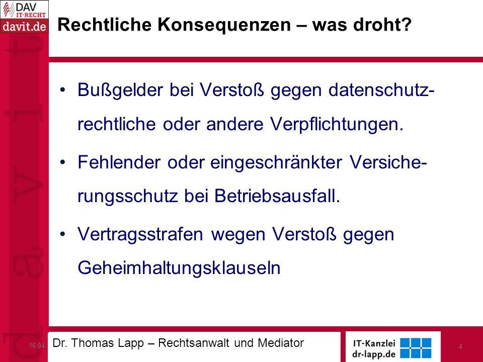 16.04.13IT-Sicherheit in der Hotellerie 4 Rechtliche Konsequenzen – was droht.
