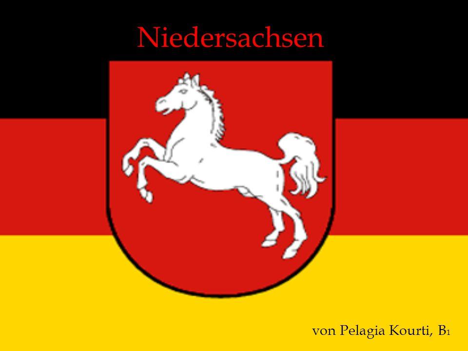 Einige Informationen Fläche: 47.618 km² Einwohner: 8 Millioner Landeshauptstadt: Hannover Höchster Berg: Wurmberg (Harz), 971m Längster Fluss: Weser, fließt 353 km durch Niedersachsen