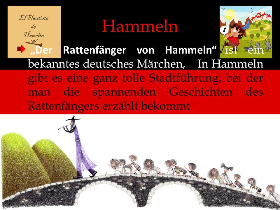 """Hammeln """"Der Rattenfänger von Hammeln"""" Vist ein bekanntes deutsches Märchen,le In Hammeln gibt es eine ganz tolle Stadtführung, bei der man die spanne"""