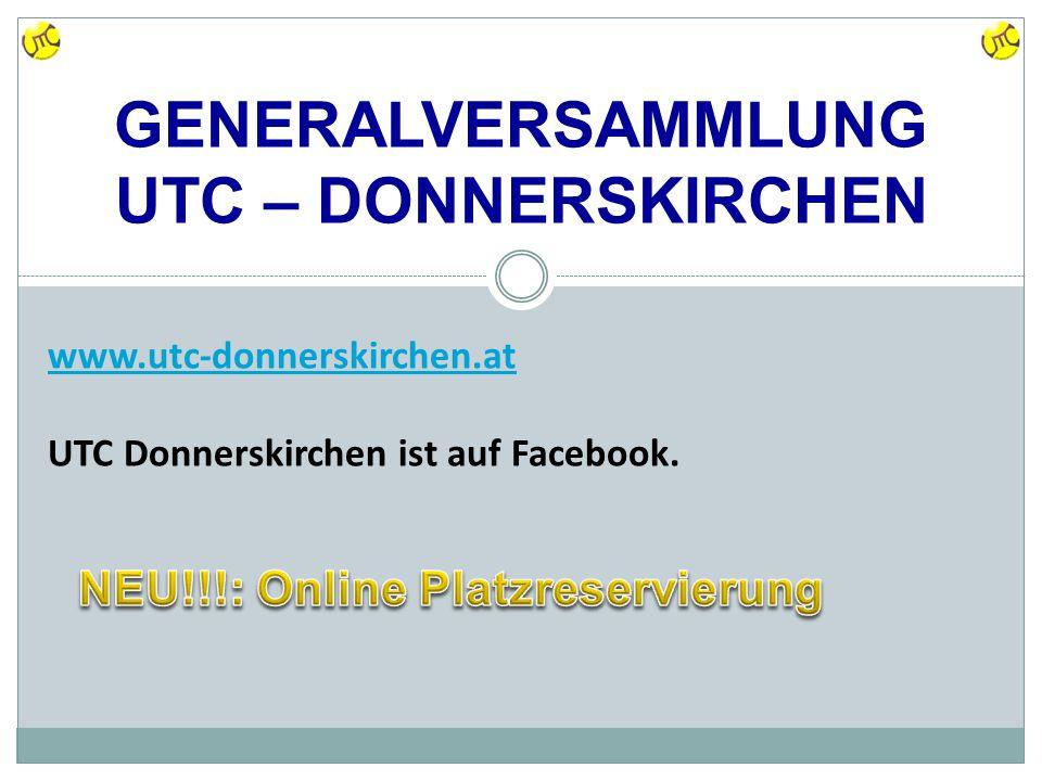 www.utc-donnerskirchen.at UTC Donnerskirchen ist auf Facebook.