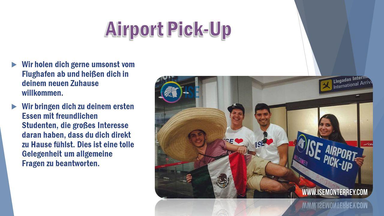  Wir holen dich gerne umsonst vom Flughafen ab und heißen dich in deinem neuen Zuhause willkommen.