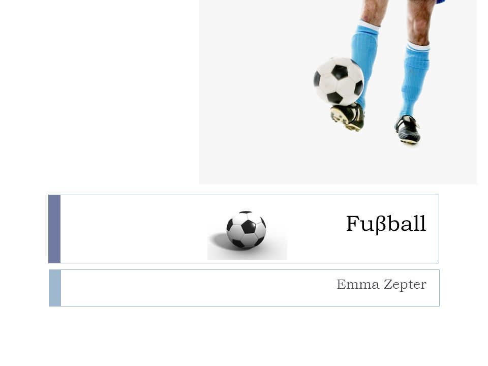 Fu β ball Emma Zepter