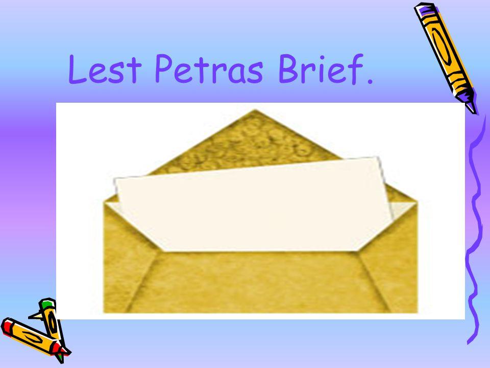 Lest Petras Brief.