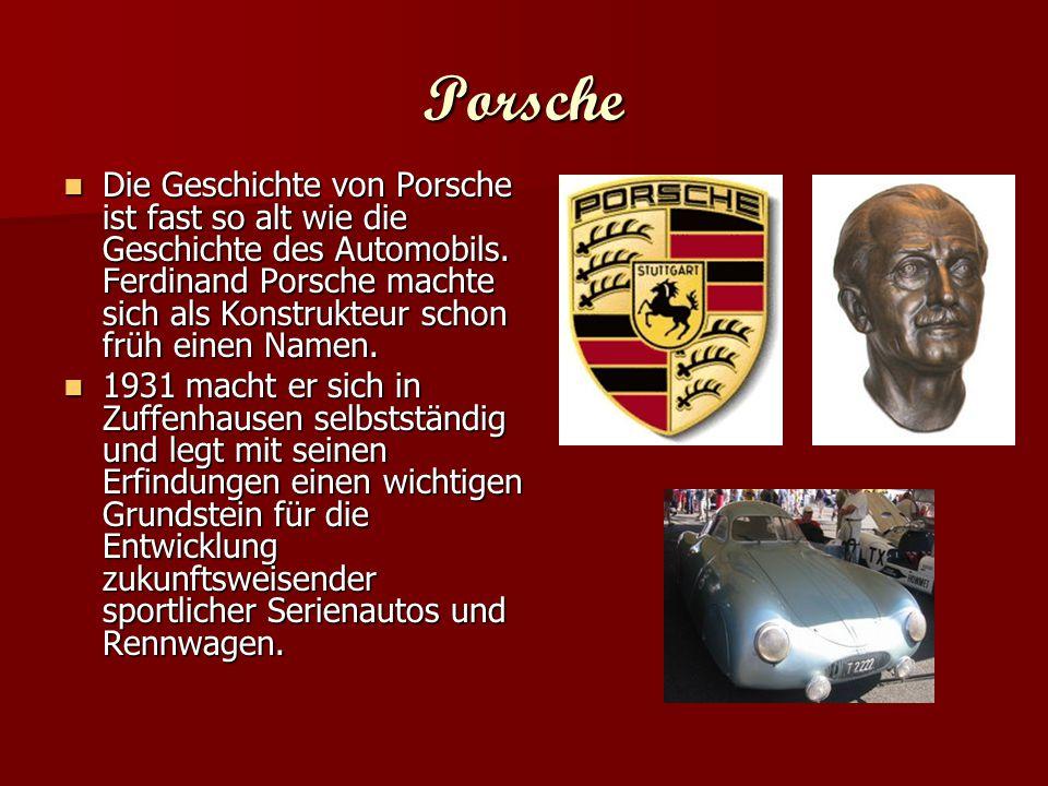 Porsche Museum Das Museum, seit 1976 für die Öffentlichkeit zugänglich, zeigt die Porsche-Geschichte im Rahmen einer beeindruckenden Ausstellung von ca.