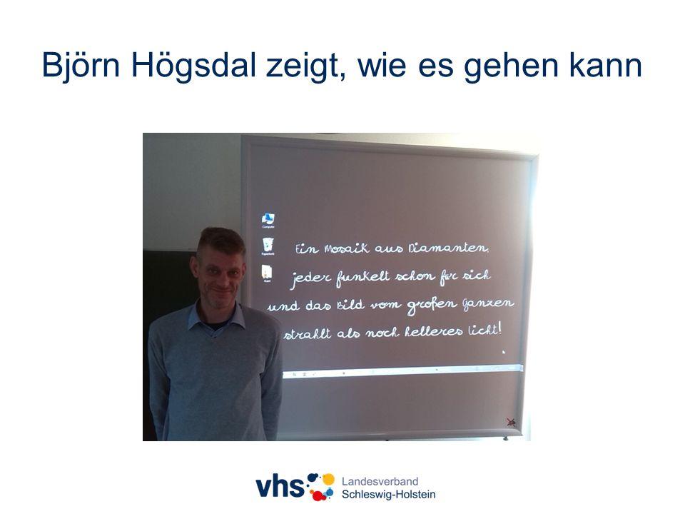 Björn Högsdal zeigt, wie es gehen kann