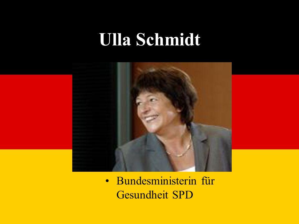 Ulla Schmidt Bundesministerin für Gesundheit SPD