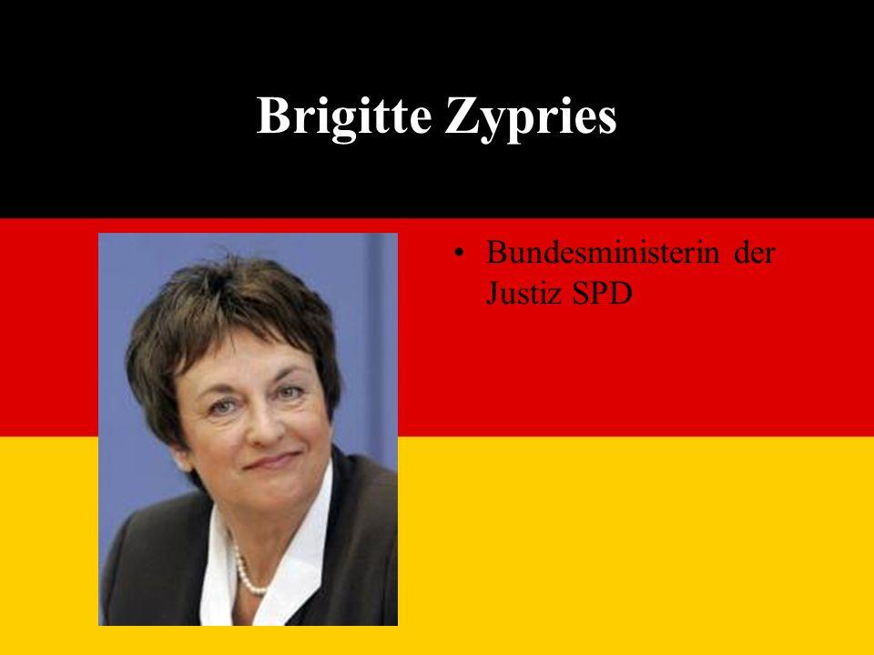 Brigitte Zypries Bundesministerin der Justiz SPD