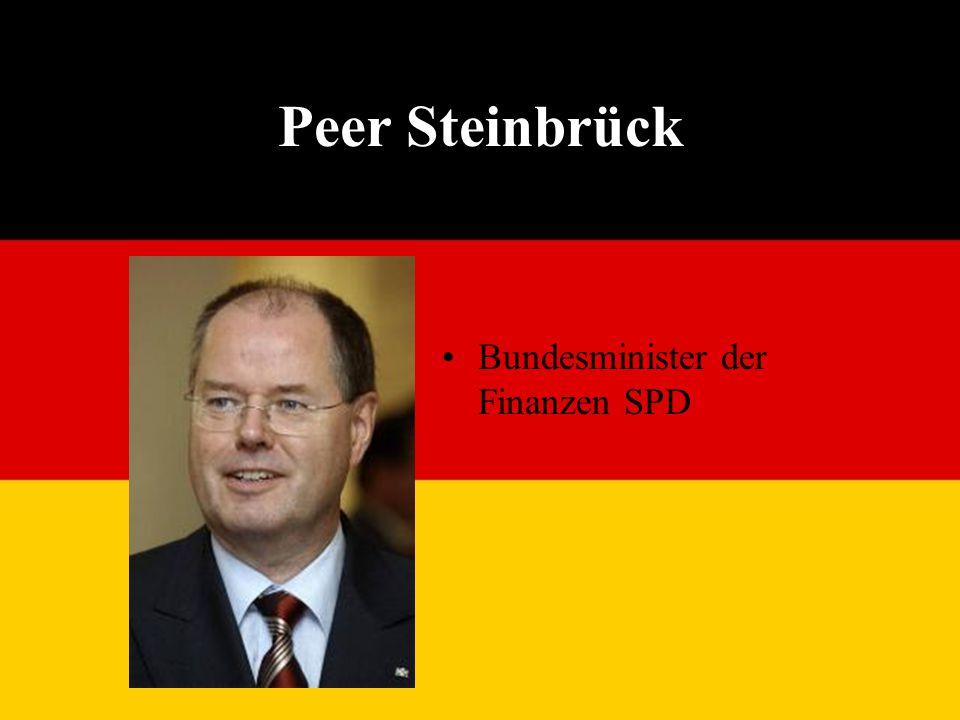 Peer Steinbrück Bundesminister der Finanzen SPD