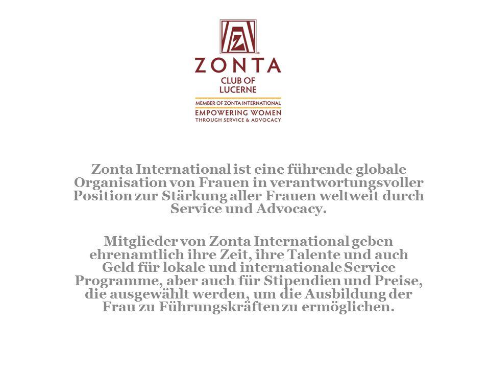 Zonta International ist eine führende globale Organisation von Frauen in verantwortungsvoller Position zur Stärkung aller Frauen weltweit durch Service und Advocacy.