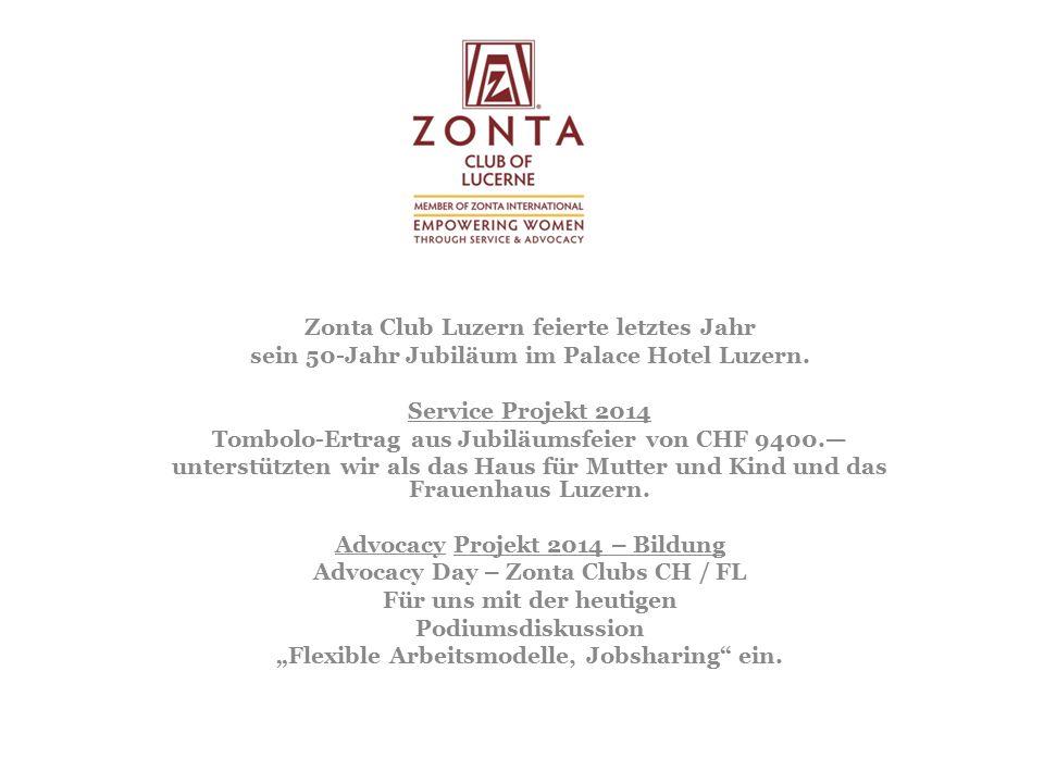 Zonta Club Luzern feierte letztes Jahr sein 50-Jahr Jubiläum im Palace Hotel Luzern.