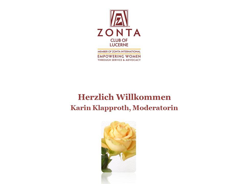 Herzlich Willkommen Karin Klapproth, Moderatorin