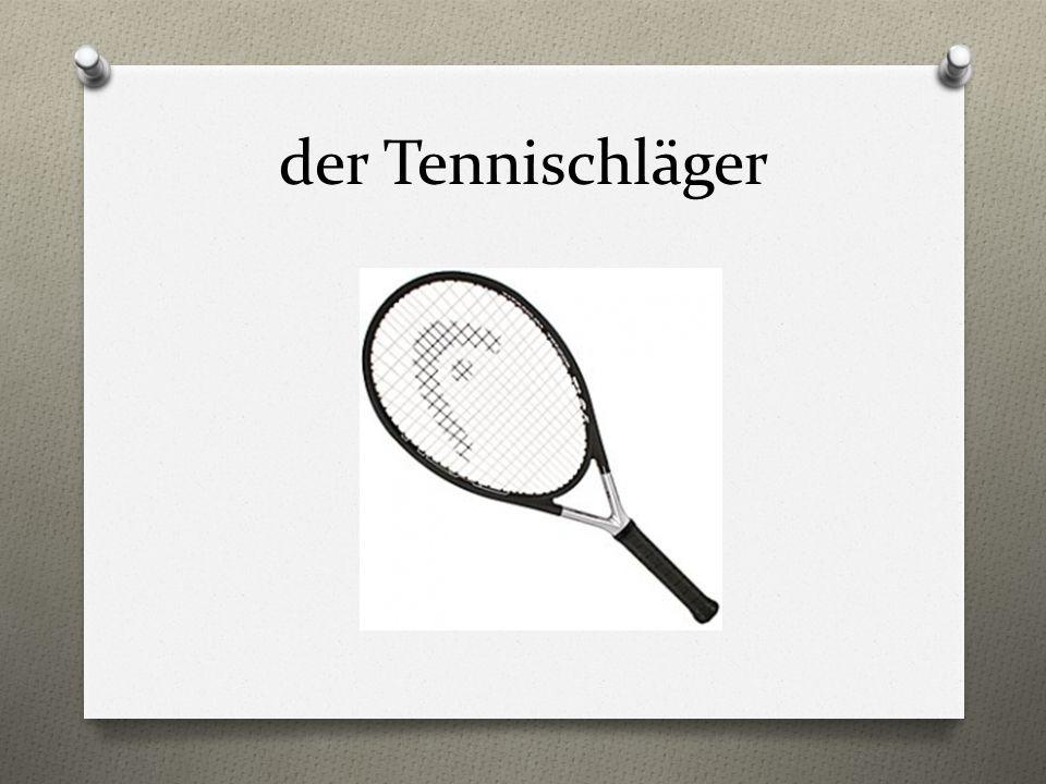 der Tennischläger