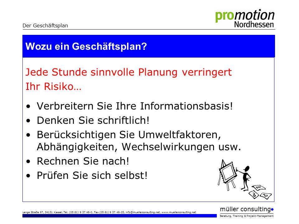 müller consulting Beratung, Training & Projekt-Management Lange Straße 97, 34131 Kassel, Tel.