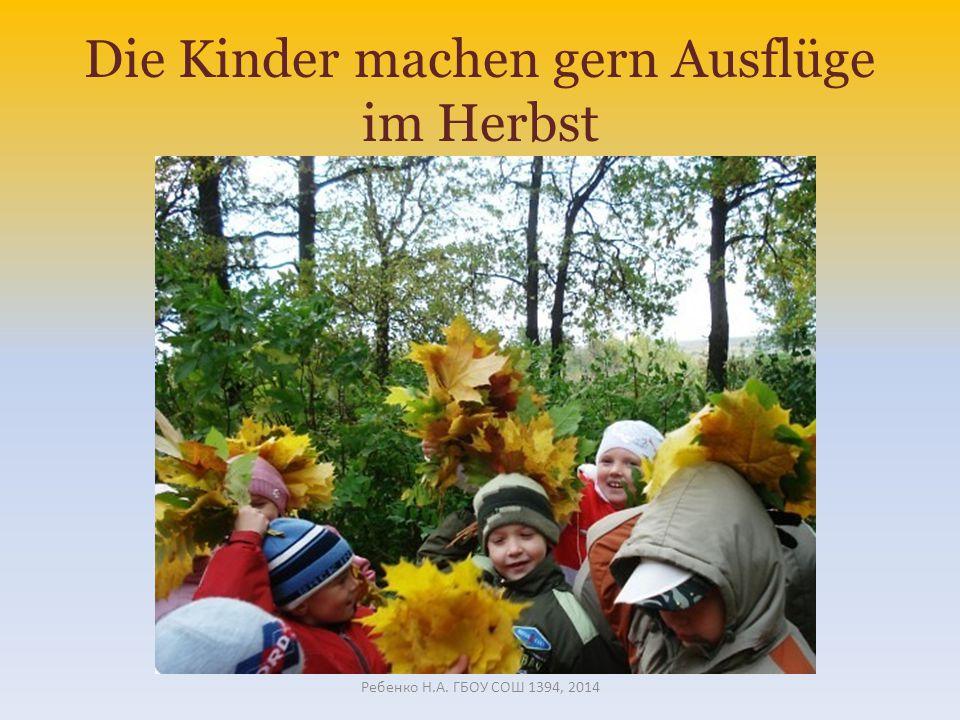 Die Kinder machen gern Ausflüge im Herbst Ребенко Н.А. ГБОУ СОШ 1394, 2014