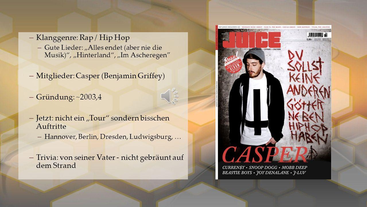 """–Klanggenre: Elektro (elektronische Musik) –Gute Lieder: """"Sonnentanz"""" –2013 Song des Jahres; Amadeus Austrian Music Award –Mitglieder: 2 DJs –Tobias R"""