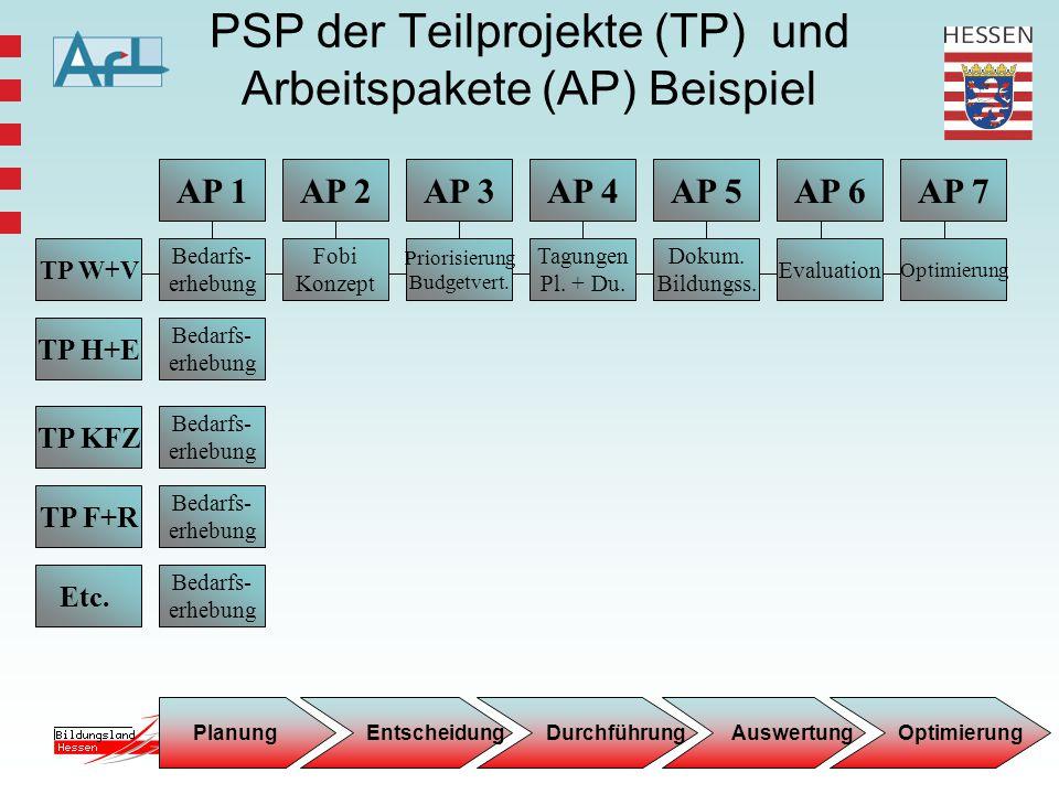 8 AP 1 TP W+V TP H+E TP KFZ TP F+R Etc. Bedarfs- erhebung AP 3AP 4AP 5AP 2 Priorisierung Budgetvert. Evaluation Tagungen Pl. + Du. Fobi Konzept AP 7AP