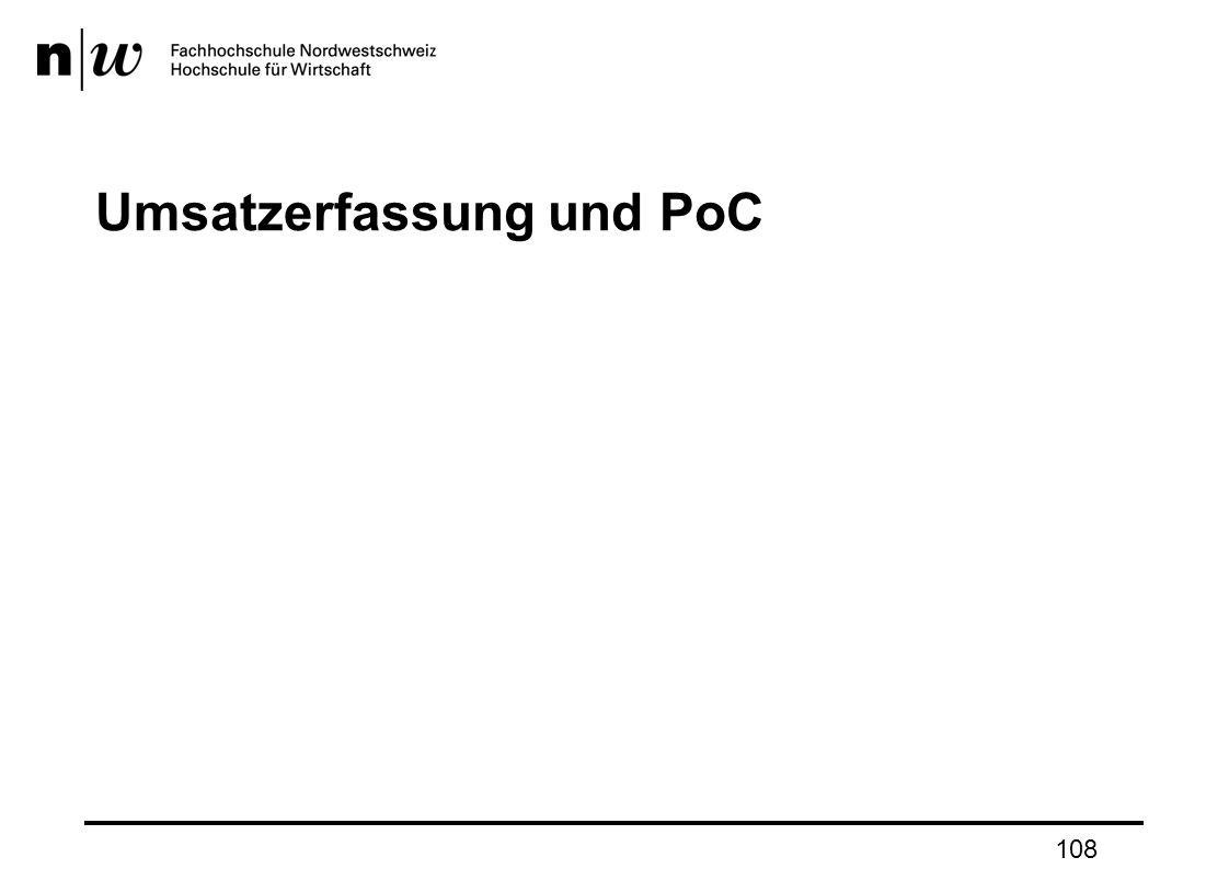 Umsatzerfassung und PoC 108