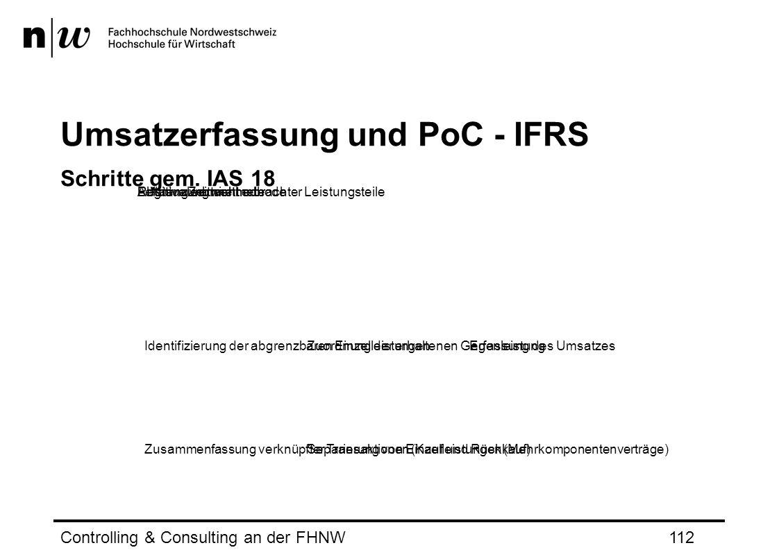 Umsatzerfassung und PoC - IFRS Schritte gem.