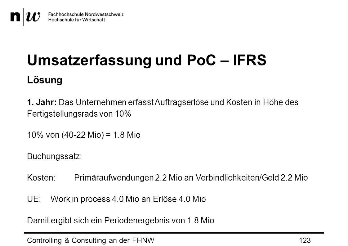 Umsatzerfassung und PoC – IFRS Lösung 1.