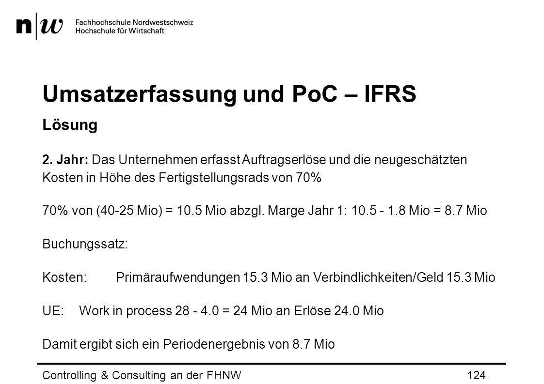 Umsatzerfassung und PoC – IFRS Lösung 2.