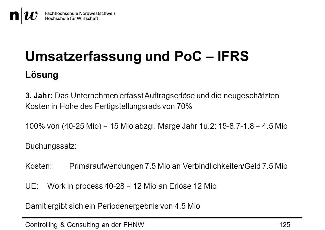 Umsatzerfassung und PoC – IFRS Lösung 3.