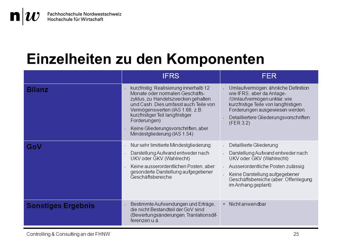Einzelheiten zu den Komponenten IFRSFER Bilanz kurzfristig: Realisierung innerhalb 12 Monate oder normalen Geschäfts- zyklus, zu Handelszwecken gehalten und Cash.