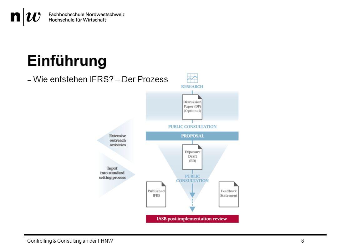 Einführung – Wie entstehen IFRS? – Der Prozess Controlling & Consulting an der FHNW8