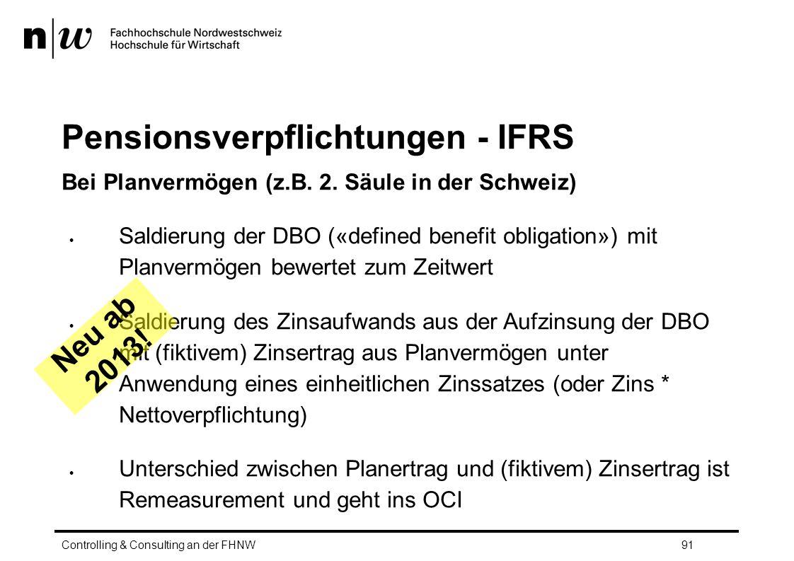 Pensionsverpflichtungen - IFRS Bei Planvermögen (z.B.