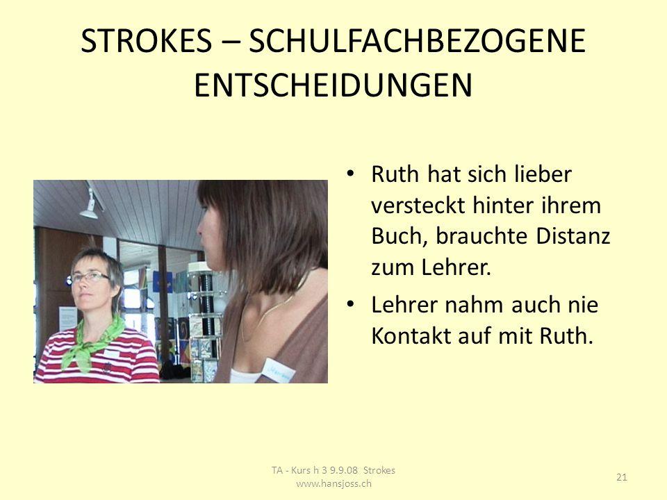 STROKES – SCHULFACHBEZOGENE ENTSCHEIDUNGEN Ruth hat sich lieber versteckt hinter ihrem Buch, brauchte Distanz zum Lehrer.