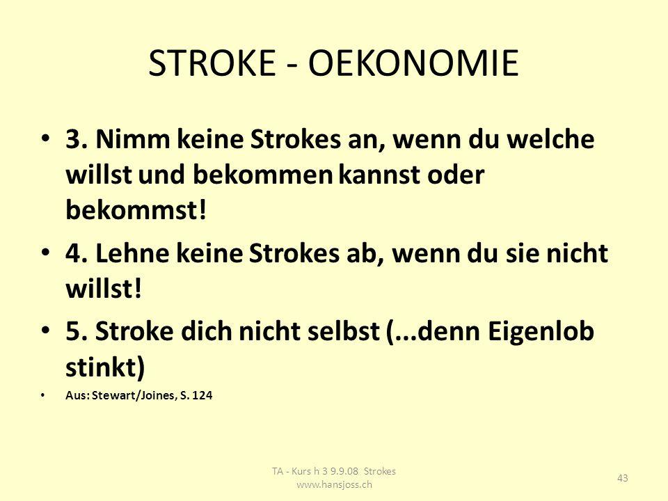 STROKE - OEKONOMIE 3.