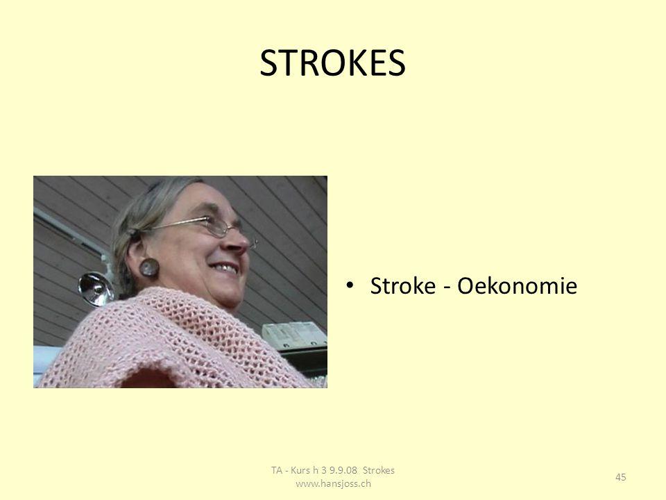 STROKES Stroke - Oekonomie 45 TA - Kurs h 3 9.9.08 Strokes www.hansjoss.ch