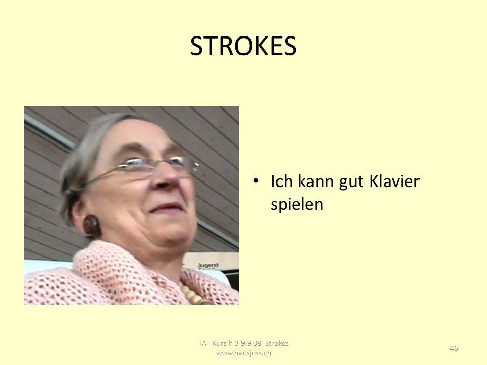 STROKES Ich kann gut Klavier spielen 46 TA - Kurs h 3 9.9.08 Strokes www.hansjoss.ch