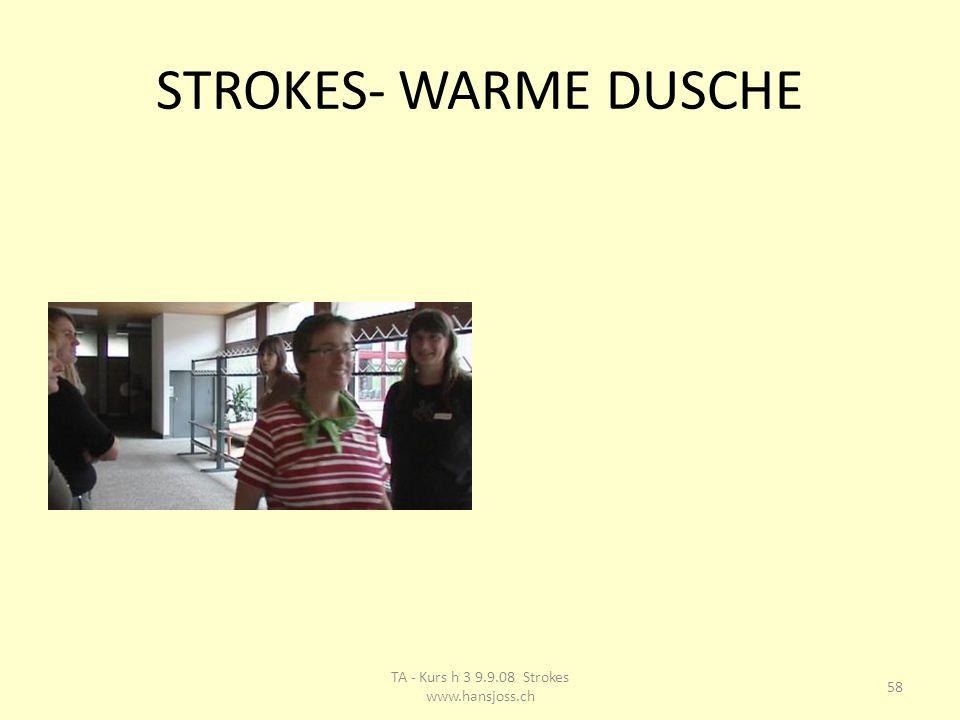 STROKES- WARME DUSCHE 58 TA - Kurs h 3 9.9.08 Strokes www.hansjoss.ch