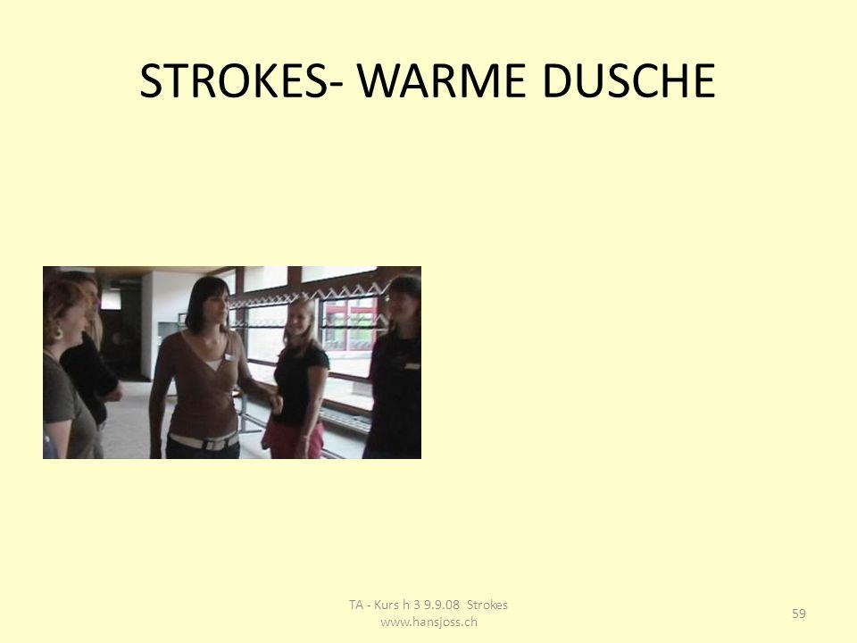 STROKES- WARME DUSCHE 59 TA - Kurs h 3 9.9.08 Strokes www.hansjoss.ch