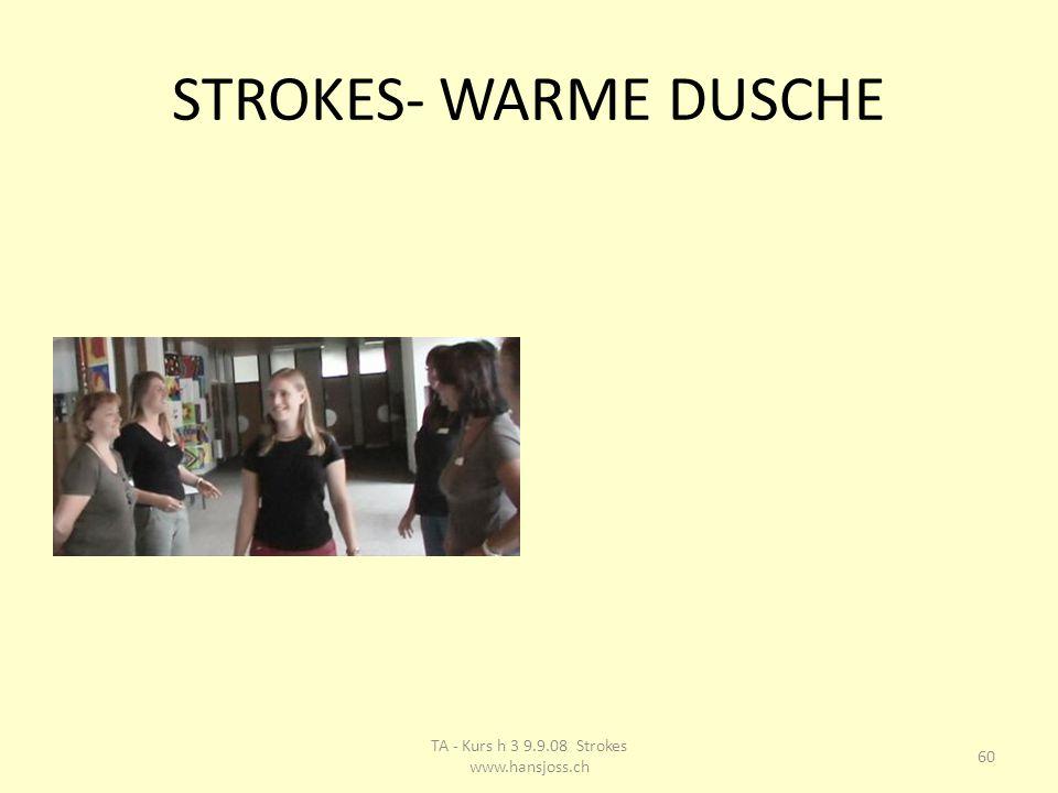 STROKES- WARME DUSCHE 60 TA - Kurs h 3 9.9.08 Strokes www.hansjoss.ch